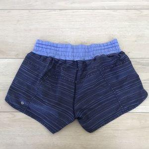 Lululemon tracker blue marked striped run short 12